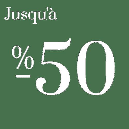 -50% réductions