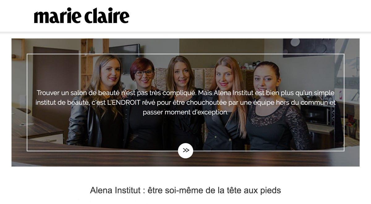 Maire Claire adresse incontournable