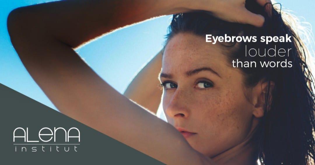 Eyebrows speak louder than words!