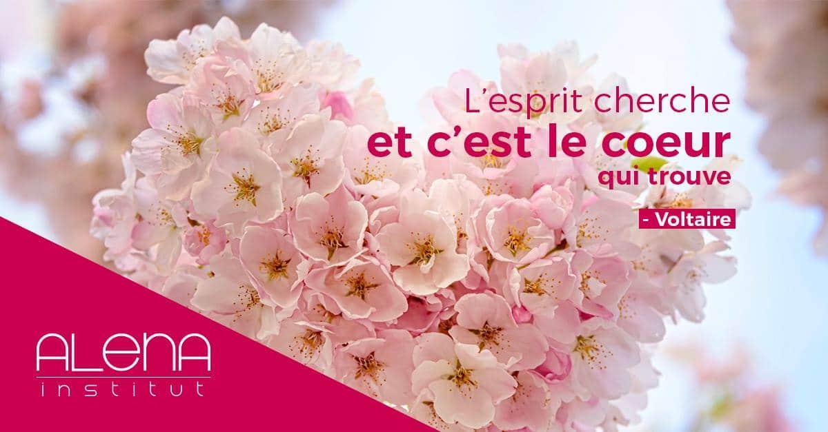 « L'esprit cherche et c'est le coeur qui trouve » - Voltaire